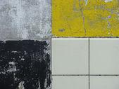 White yellow and black plane with tiles — Stock Photo