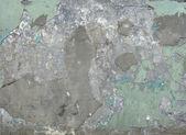 Worn mint green wall — Stock Photo