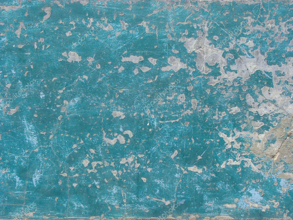 Abgenutzte blau bemalten wand — stockfoto © johnjohnson #3189530