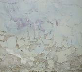 Worn white green painted wall — Stock Photo