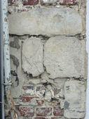Damaged stripped wall — Stock Photo