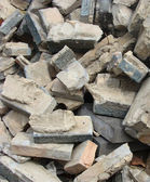 Demolition stone stack of rubble — Stock Photo