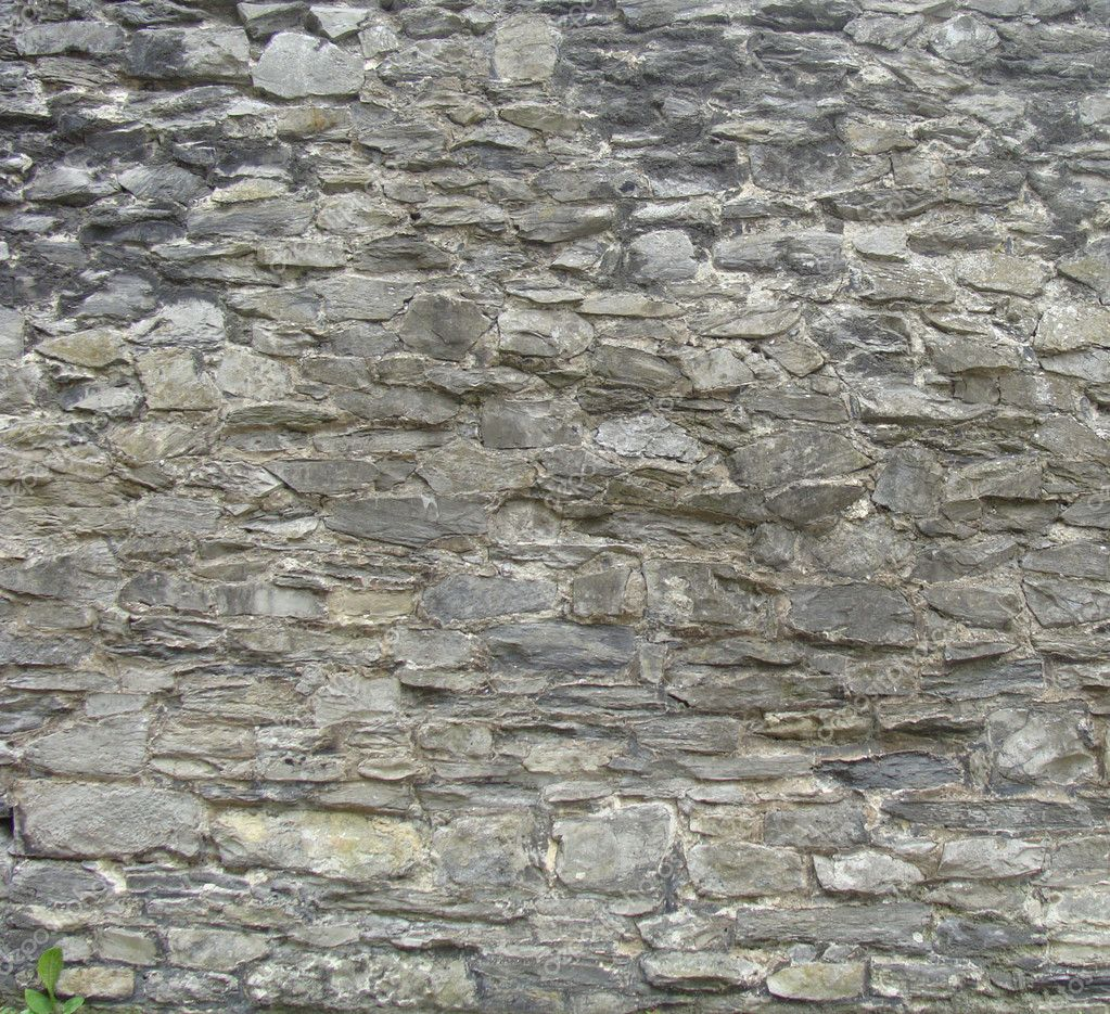Grote middeleeuwse stenen muur — stockfoto © johnjohnson #3232058