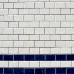 Blue white tile pattern — Stock Photo #3241957