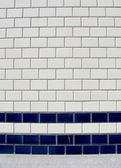 Blue white tile pattern — Stock Photo