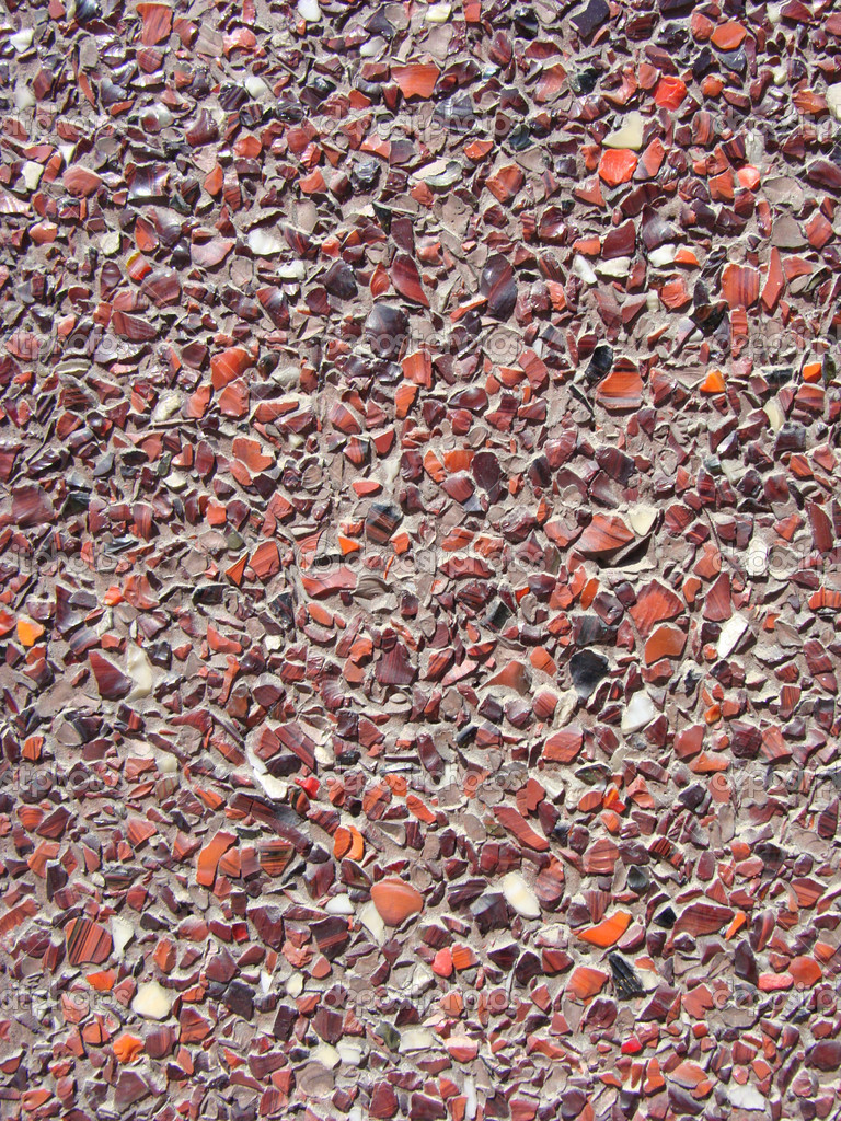 Beton met kleine stenen kiezels muur — stockfoto © johnjohnson ...