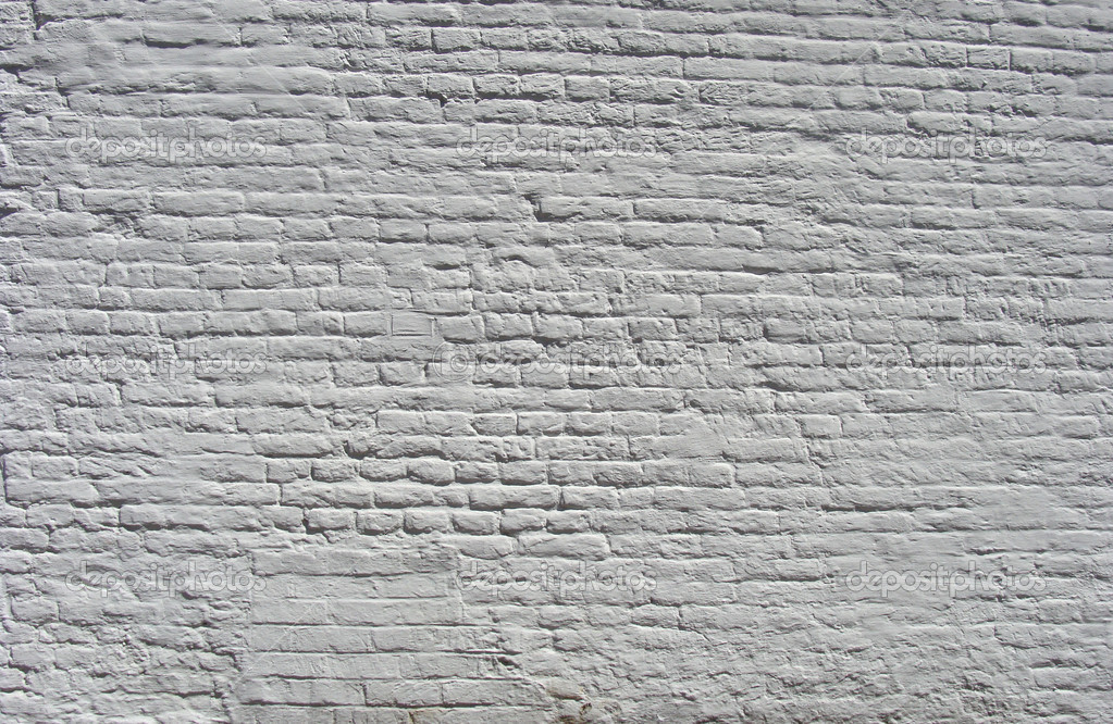 Old Brick Wall Painted White Stock Photo Johnjohnson