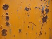 Rusty orange colored plate slate of metal — Stock Photo