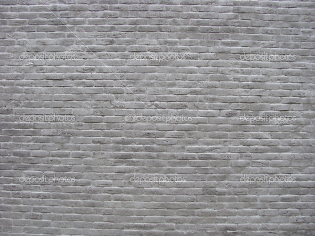 Brick Wall Painted White Gray Stock Photo Johnjohnson