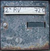 Rostige blau postfach mit tastensperre — Stockfoto