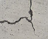 Elegant split crack in on white surface — Stock Photo