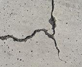 Elegant split crack in on white surface — Stock Photo