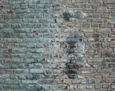 Dirty worn factory wall with a blue tint — Stock Photo