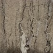 Crack pattern in a damaged stone wall — Stock Photo #3546592