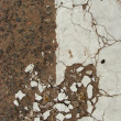 Stock Photo: Crackled worn dirty white surface