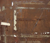 Brown grungy metal rusty background — Stockfoto
