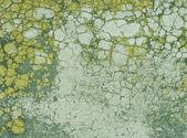 Yeşil sarı grunge geçmiş kırık boya ile — Stok fotoğraf