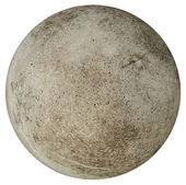Round concrete ball on a white background resembling earth — Stock Photo