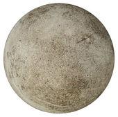 Toprak andıran beyaz zemin üzerine beton top yuvarlak — Stok fotoğraf