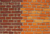 Brick wall with two different colors of bricks — Stock Photo