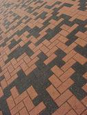 Orange black rectangular tile pavement pattern — Stock Photo