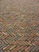 диагональ заложен кирпич тротуарная шаблон — Стоковое фото