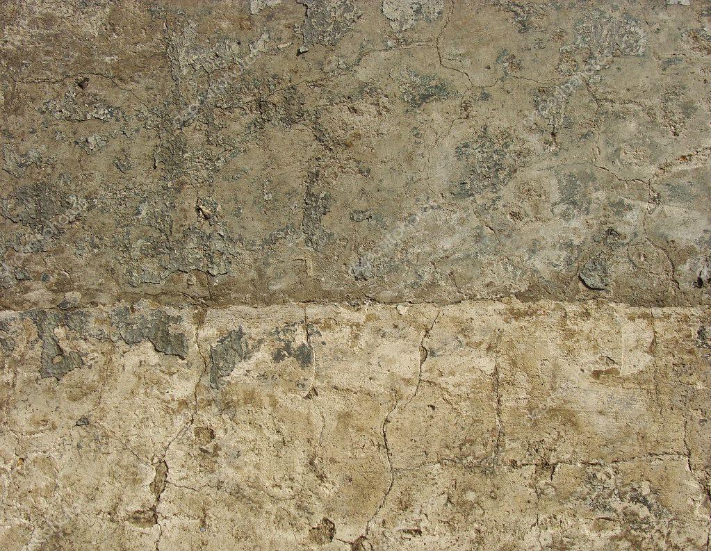 Halbe beige halbe grau getragen schmutzig grunge wand — stockfoto ...