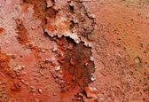 Kırmızı pembe metal çok paslı plaka — Stok fotoğraf