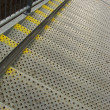 Metal industrial safety steps stairs - Foto Stock