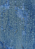 Crackled blue paint on wood — Stock Photo