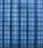 Part of a blue colored fence — Stock Photo