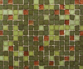 Green and copper mosaic tiles — Stock Photo