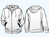 Jacket or sweatshirt template — Cтоковый вектор