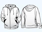 Plantilla de chaqueta o sudadera — Vector de stock