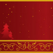 Christmas or New Year card - Image vectorielle