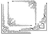 Elegant frame set — Stock Vector