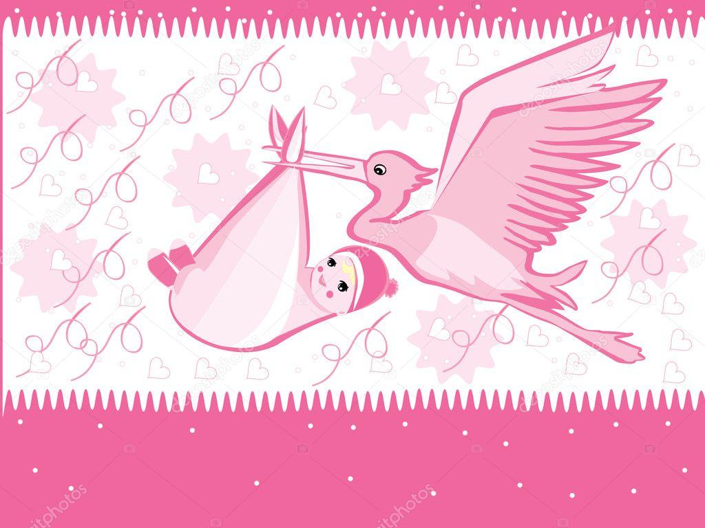 Dibujos Cigueña Con Bebé Wallpaper