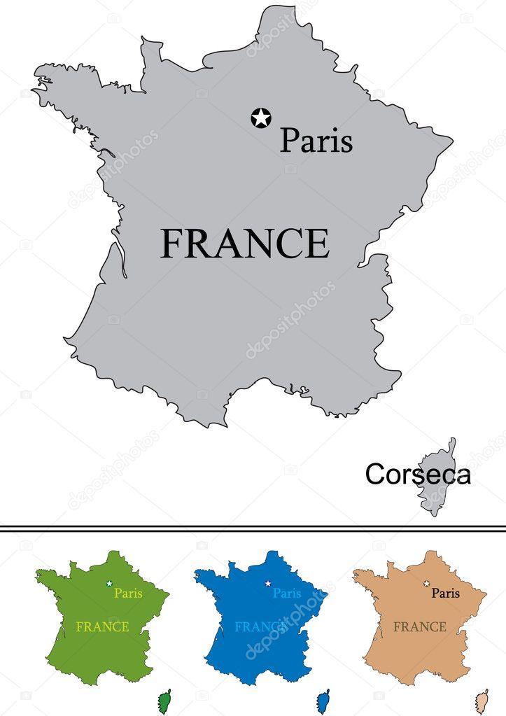 法国巴黎和 corseca — 矢量图片作者 rsinha