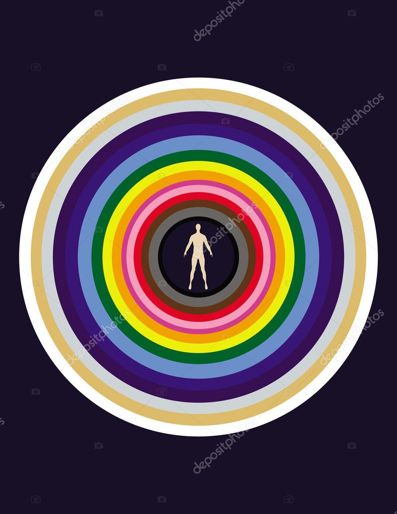 The person and its aura. — Stock Vector #3133306