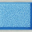 Blue water pool surface top view — Stock Photo