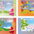 Royalty-Free Stock Vector Image: Sweet expectation - seasons. vector