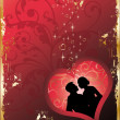 Royalty-Free Stock Imagem Vetorial: Love card with heart, vector