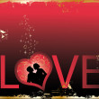Royalty-Free Stock Imagem Vetorial: Love card, vector