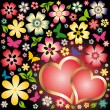 Royalty-Free Stock Vektorov obrzek: Love card Two hearts, vector