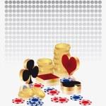 Casino poker card, vector — Stock Vector
