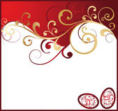 Red gold easter background , vector — Stock Vector