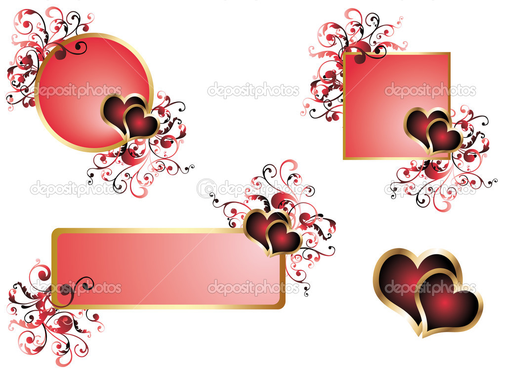 Love wedding banners, vector  Stockvektor #3014992
