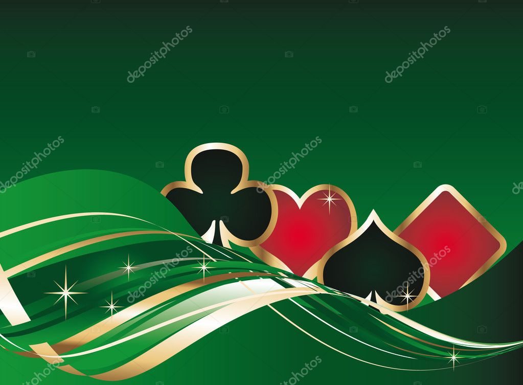 Gambling background with poker elements , vector — Imagen vectorial #3019442