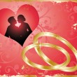 Royalty-Free Stock Vektorfiler: Wedding card. vector