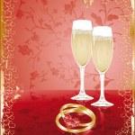 Wedding invitation card, vector — Stock Vector